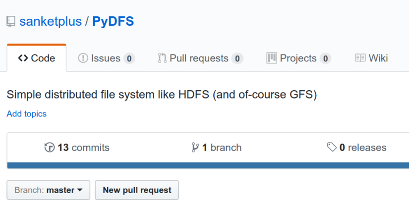 Simple Distributed File System in Python : PyDFS